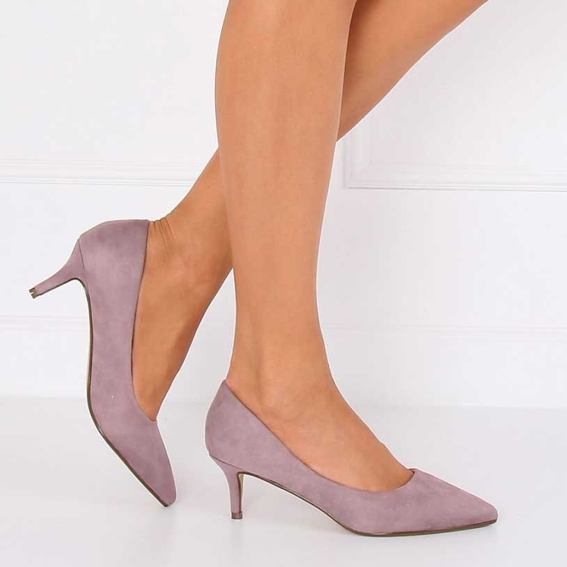Pantofi cu toc negri de dama MENBUR cu fundita la spate 37