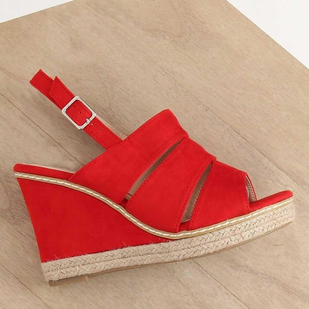 Sandale elegante cu toc gros și înalt, 8.5 cm - 131993